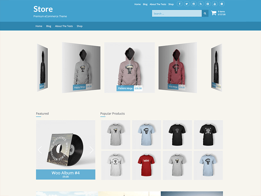 store woocommerce motyw