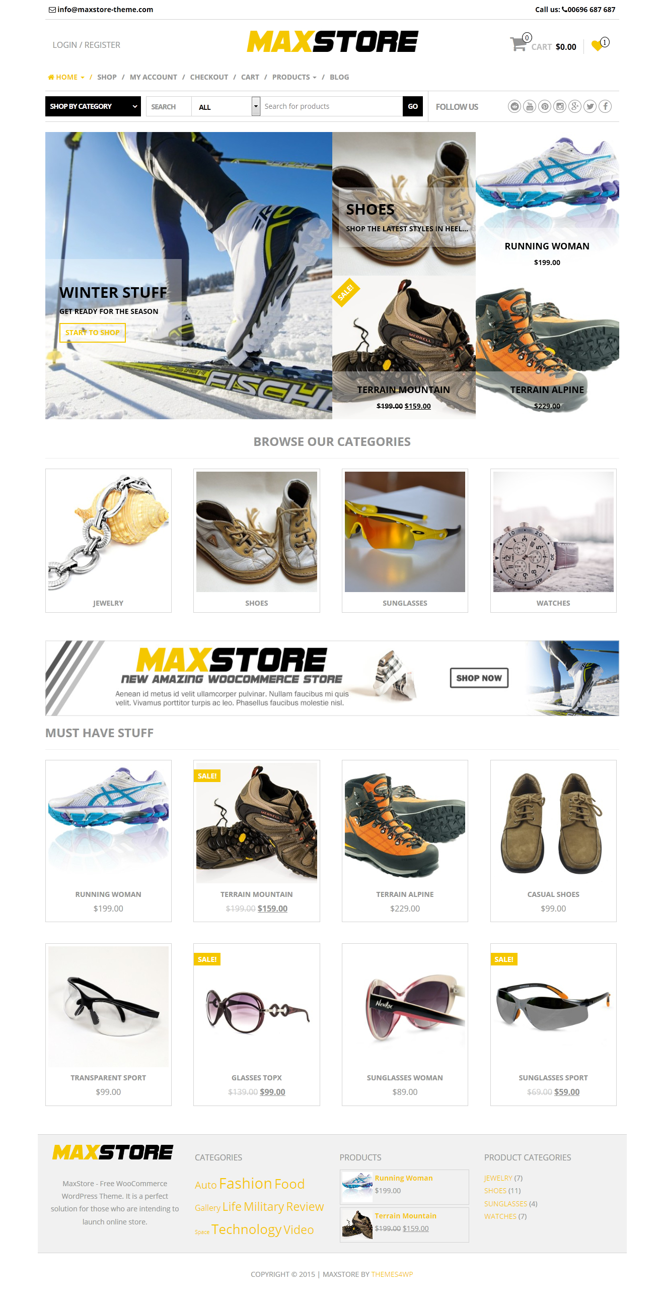 maxstore woocommerce motyw
