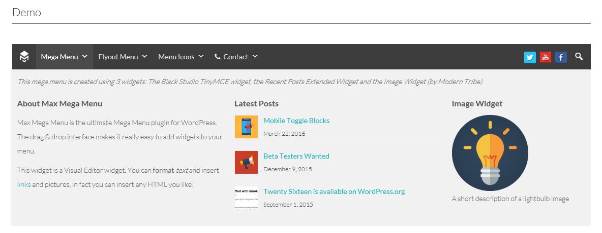 maxmega menu wordpress plugin