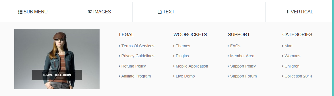 wrmega menu wordpress wplugin