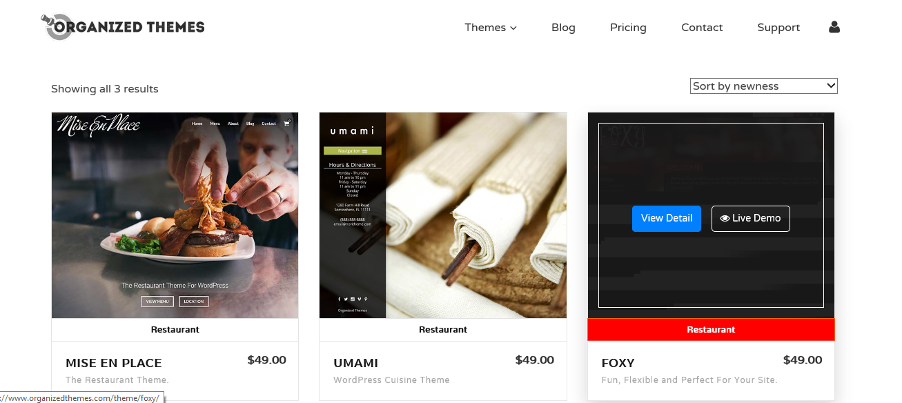 organizedthemes.com shop