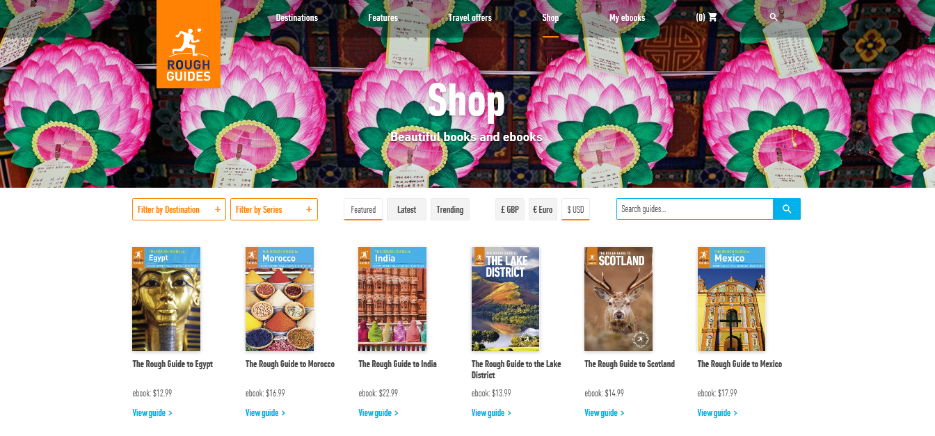 roughguides.com woocommerce exmple
